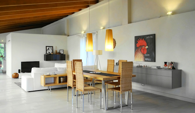 Ambiente open space Aroma Italiano Eco Design Sala da pranzo minimalista