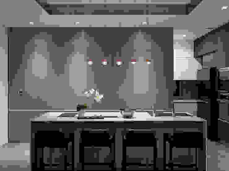 Nhà bếp phong cách hiện đại bởi 構築設計 Hiện đại