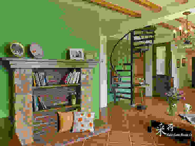 雙溪山居-鄉村風格: 鄉村  by 采荷設計(Color-Lotus Design), 田園風 磁磚