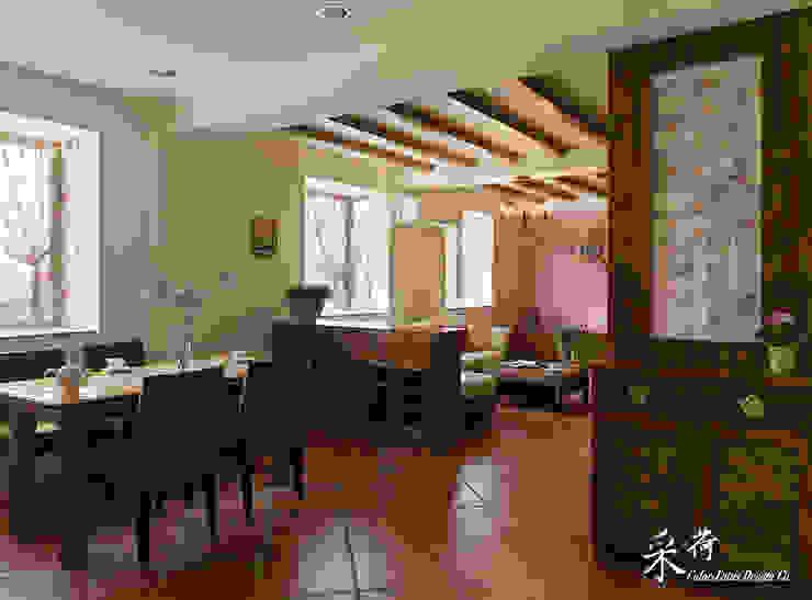 雙溪山居-鄉村風格:  國家  by 采荷設計(Color-Lotus Design), 鄉村風 實木 Multicolored