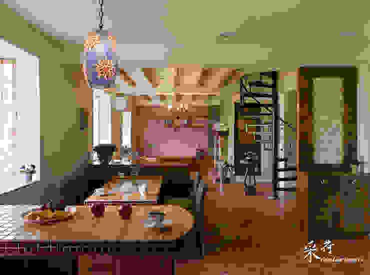 雙溪山居-鄉村風格 根據 采荷設計(Color-Lotus Design) 鄉村風 實木 Multicolored