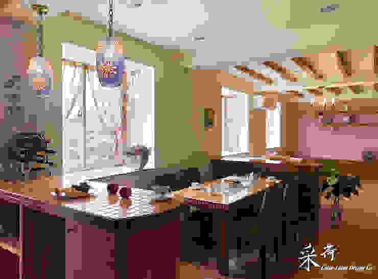 雙溪山居-鄉村風格:  國家  by 采荷設計(Color-Lotus Design), 鄉村風 磁磚