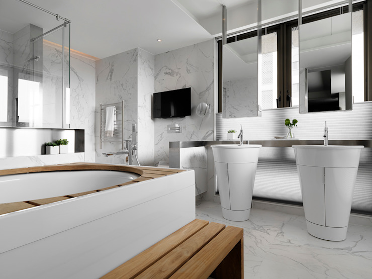 生命的光 Light of Life 現代浴室設計點子、靈感&圖片 根據 禾築國際設計Herzu Interior Design 現代風