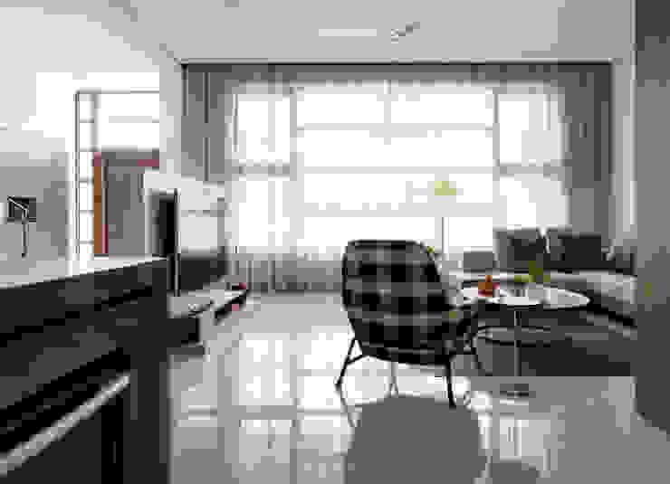 展Zhan 禾築國際設計Herzu Interior Design 现代客厅設計點子、靈感 & 圖片
