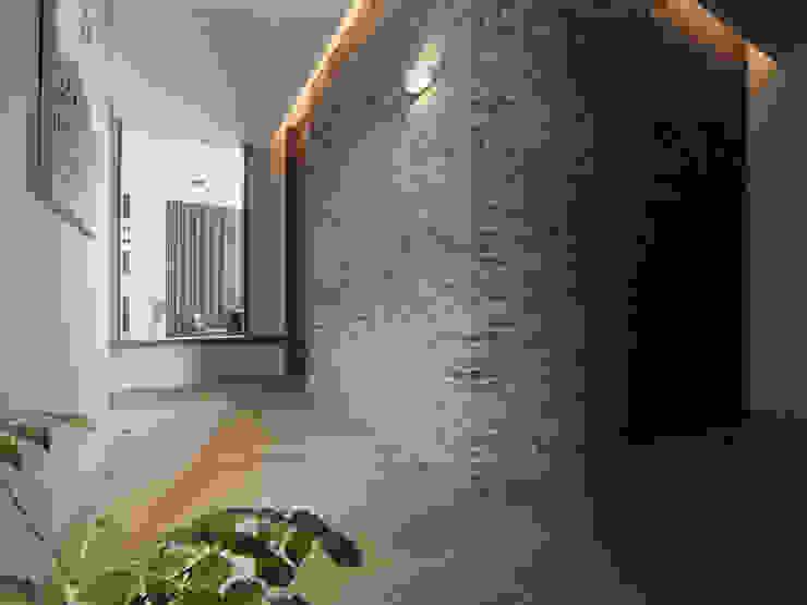 展Zhan 禾築國際設計Herzu Interior Design 現代風玄關、走廊與階梯