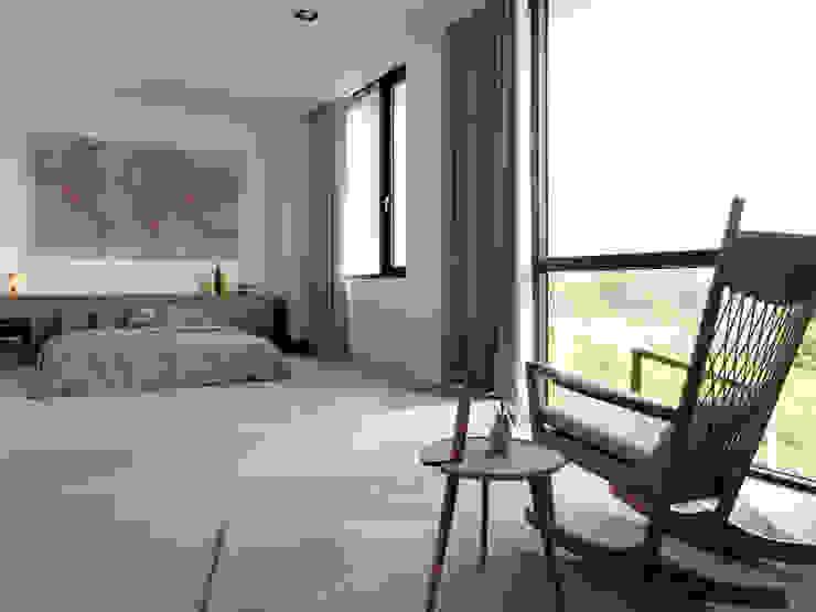 展Zhan 禾築國際設計Herzu Interior Design 臥室