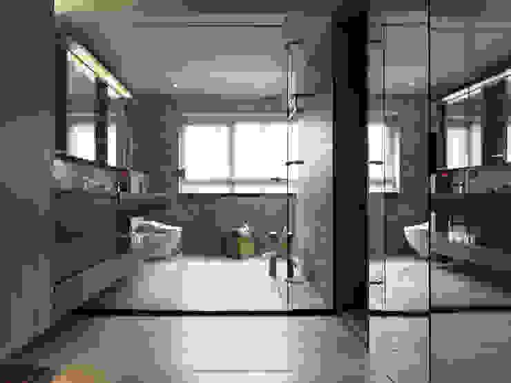 JJ HOUSE 現代浴室設計點子、靈感&圖片 根據 禾築國際設計Herzu Interior Design 現代風