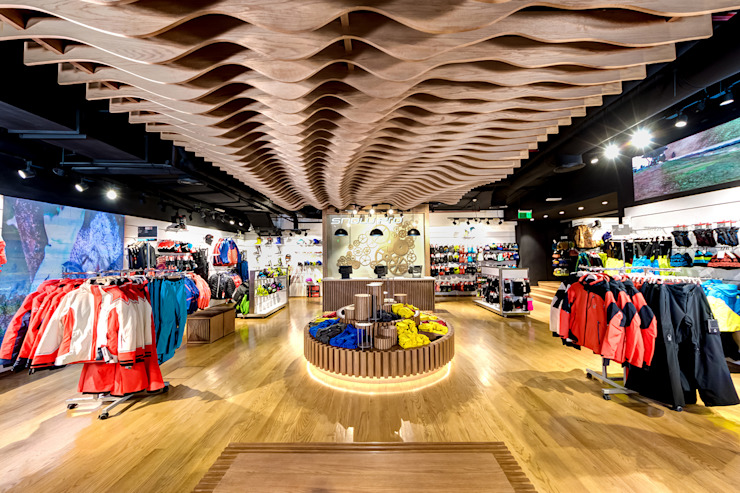 Snowpro - Mall of Egypt - Cairo - EGYPT Modern Walls and Floors by ENCODE STUDIO Modern Wood Wood effect