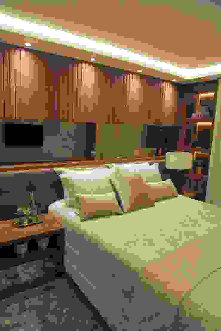 Suelen Kuss Arquitetura e Interiores Modern style bedroom MDF Wood effect