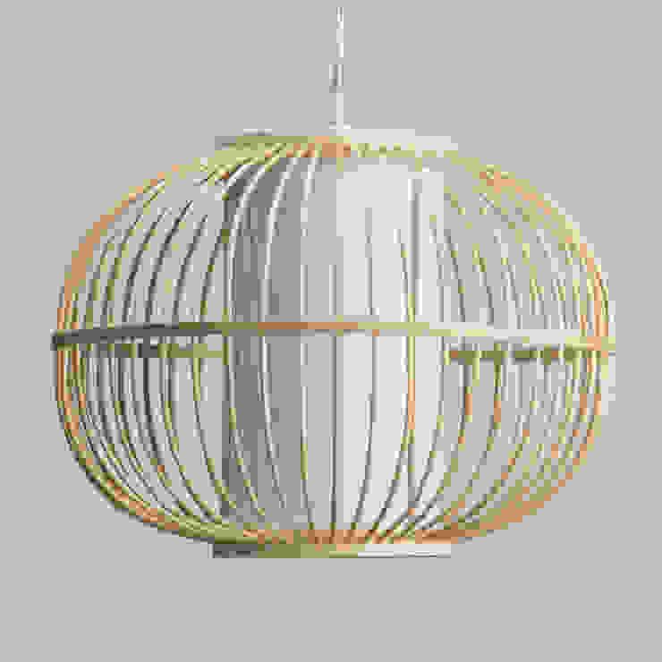 Skittle Easy to Fit Light Shade Rattan Globe - Wood Litecraft Living roomLighting