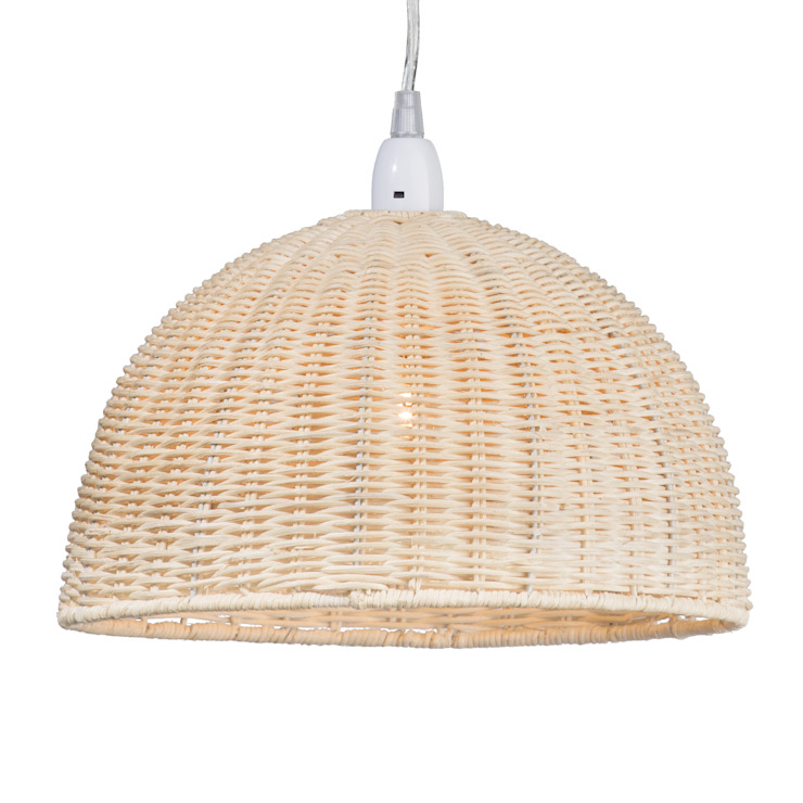 Wicker Dome Easy to Fit Ceiling Light Shade Litecraft Living roomLighting