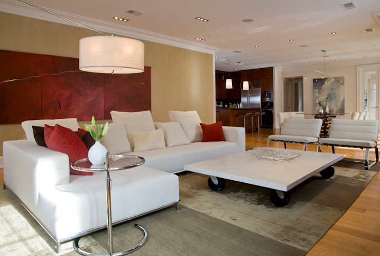 Kalorama Flat Modern Living Room by FORMA Design Inc. Modern