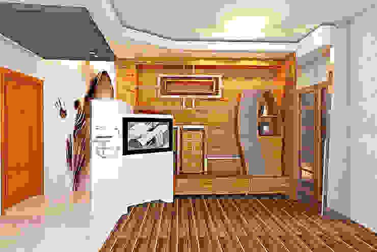 Parete Attrezzata di AdM.ArchBio.Solution Moderno Legno Effetto legno