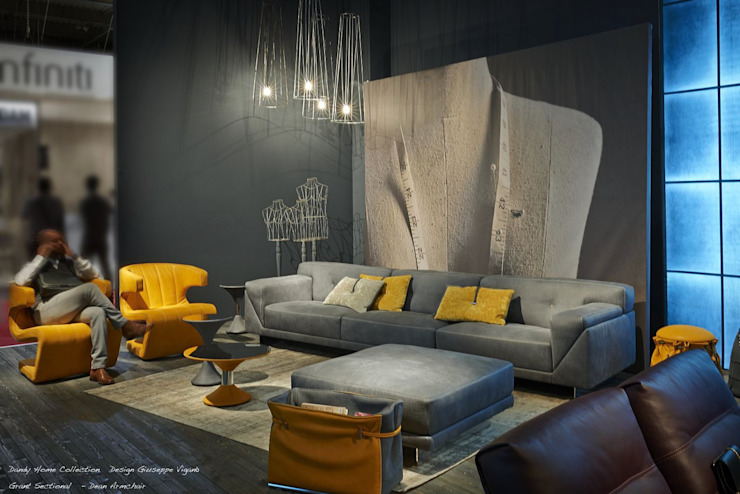 homify Living roomSofas & armchairs Leather