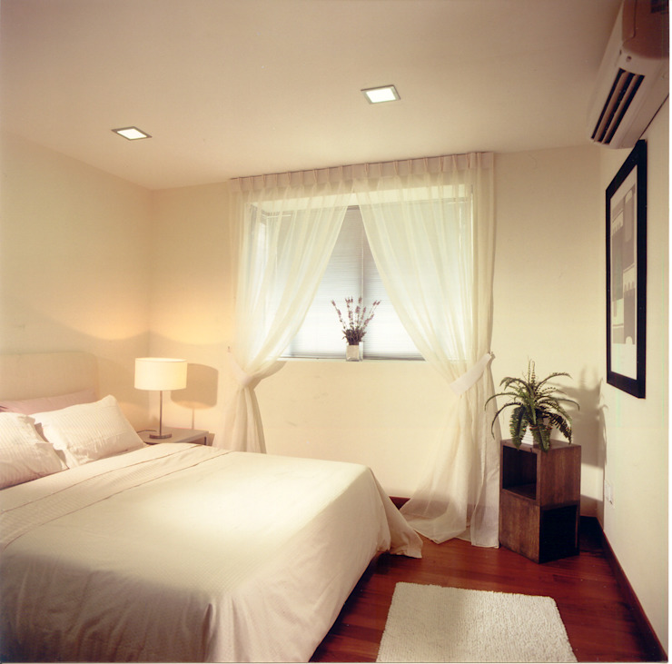 White Bedroom Kamar Tidur Gaya Asia Oleh E&U Asia Batu Bata