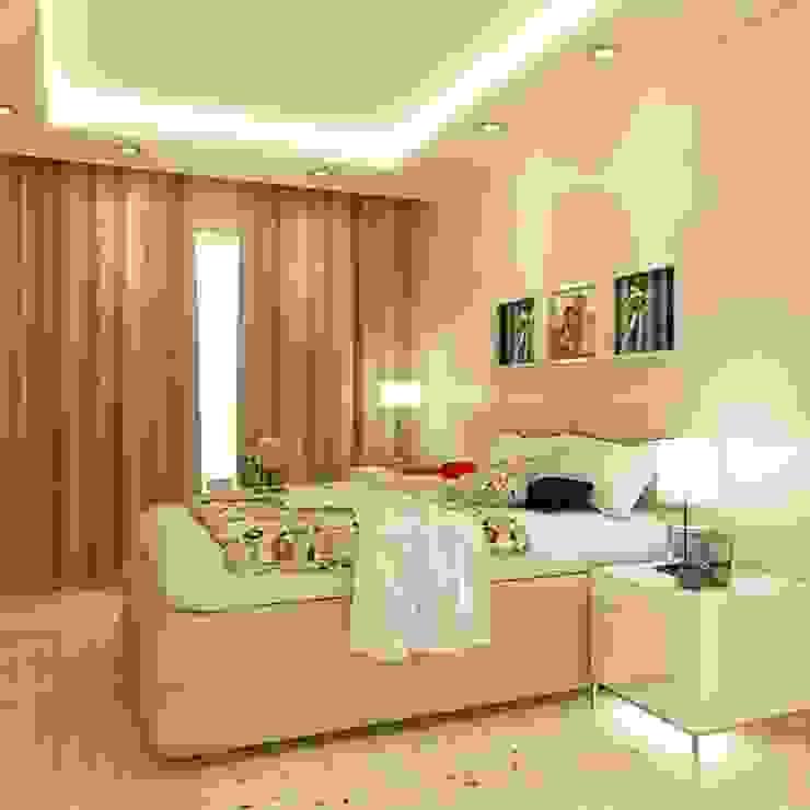 Guest Bedroom design:modern  oleh aidecore, Modern Kayu Lapis
