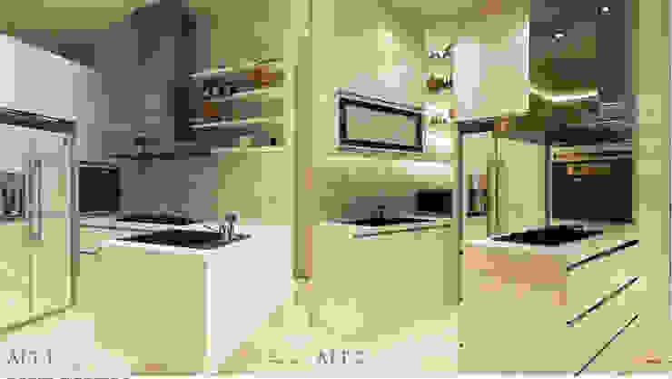 Kitchen Design:modern  oleh aidecore, Modern Kayu Lapis