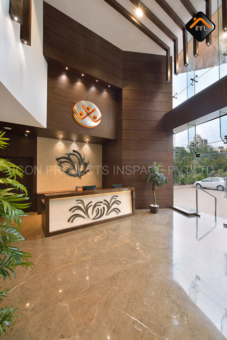 Reception Modern bars & clubs by ICON PROJECTS INSPACE PVT.LTD Modern