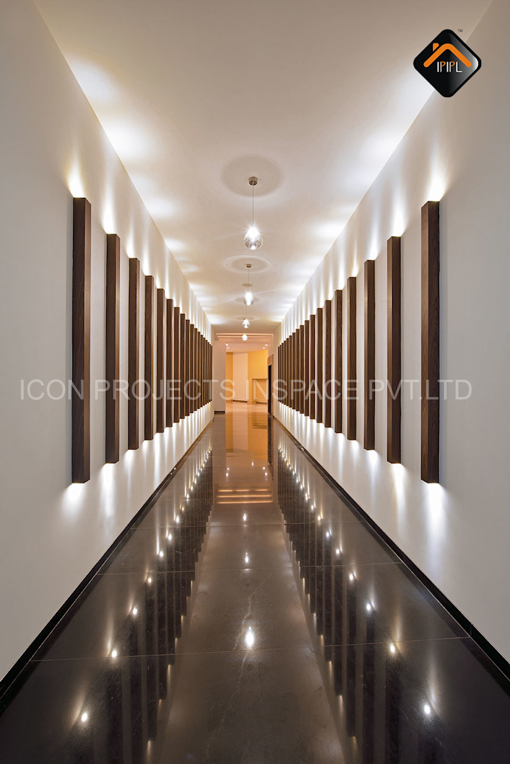Lobby Modern bars & clubs by ICON PROJECTS INSPACE PVT.LTD Modern