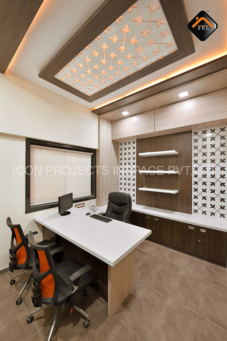 Manager Cabin Modern bars & clubs by ICON PROJECTS INSPACE PVT.LTD Modern