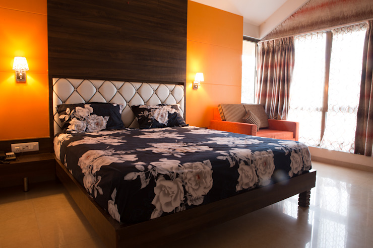 Bungalow- Lavasa Modern style bedroom by Aesthetica Modern