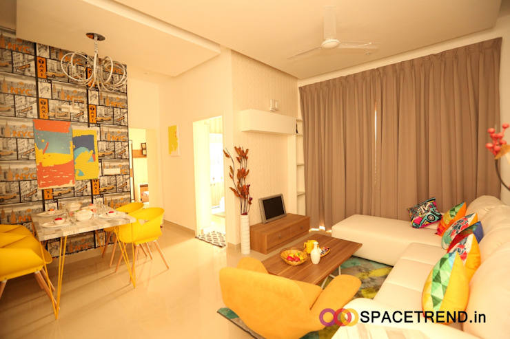 2BHK Flat Eclectic style living room by Space Trend Eclectic