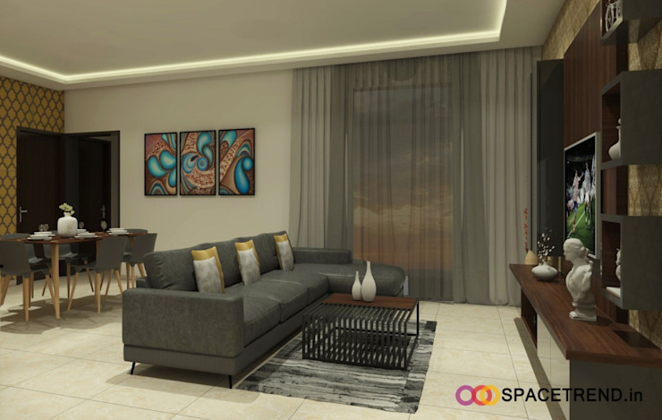 Salas / recibidores de estilo  por Space Trend, Moderno
