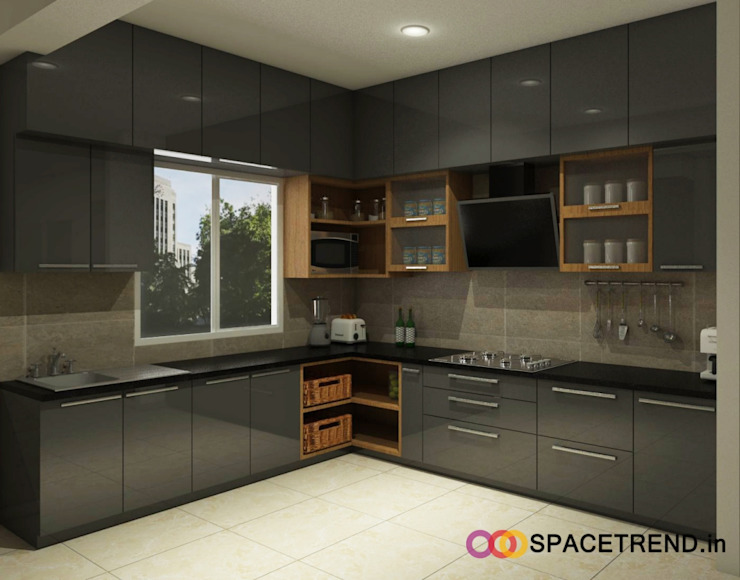 Prestige Tranquility:  Built-in kitchens by Space Trend,Modern