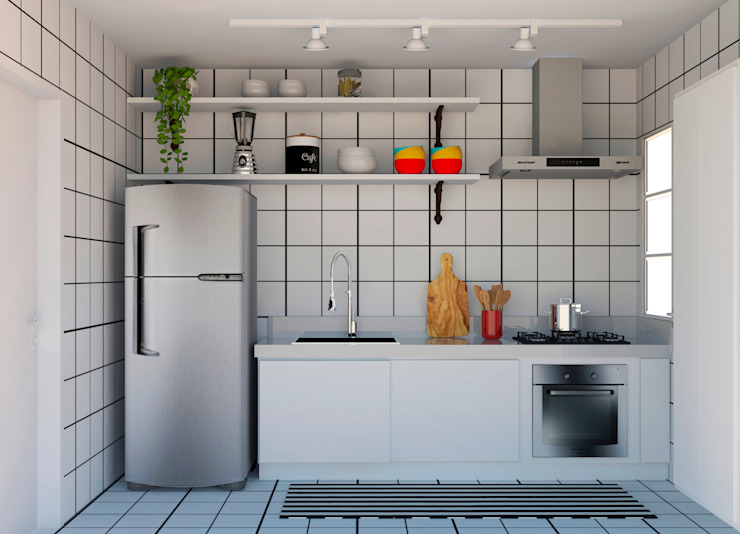 Kitchen units by homify, Minimalist Tiles