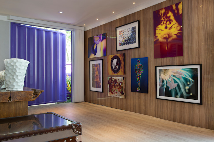 Daniel Kalil Arquitetura Modern walls & floors Wood effect
