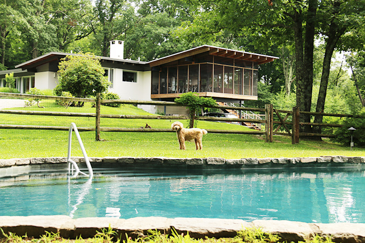 Paradise Lane, Litchfield County, CT Modern Terrace by BILLINKOFF ARCHITECTURE PLLC Modern