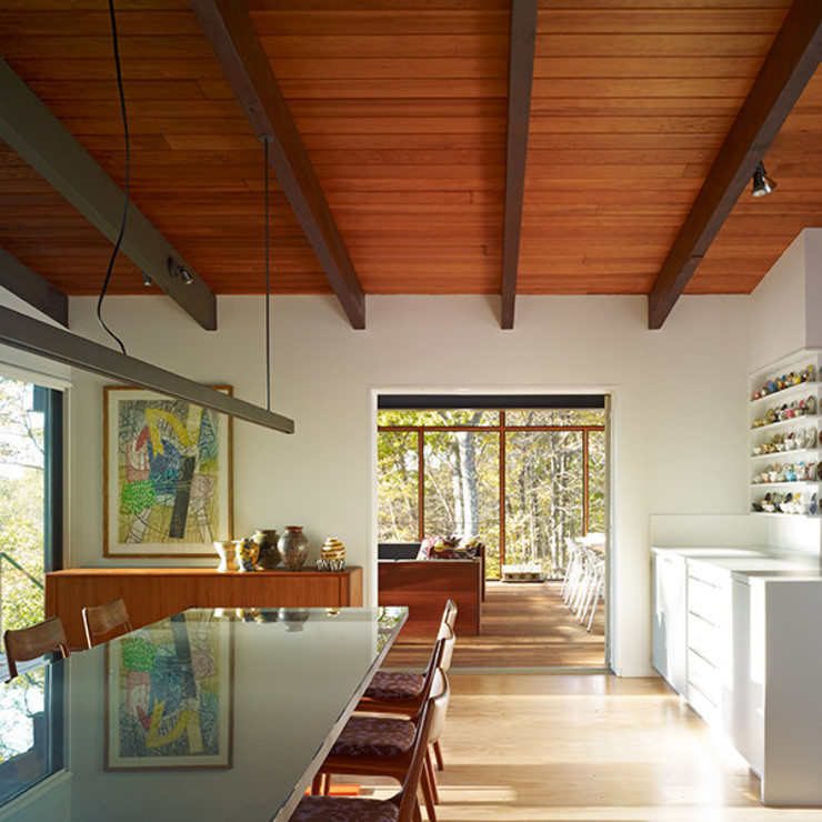 Paradise Lane, Litchfield County, CT Modern Dining Room by BILLINKOFF ARCHITECTURE PLLC Modern