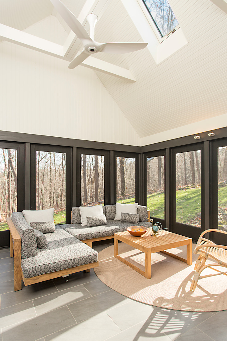 Dutchess County Residence, Amenia, NY Modern Terrace by BILLINKOFF ARCHITECTURE PLLC Modern