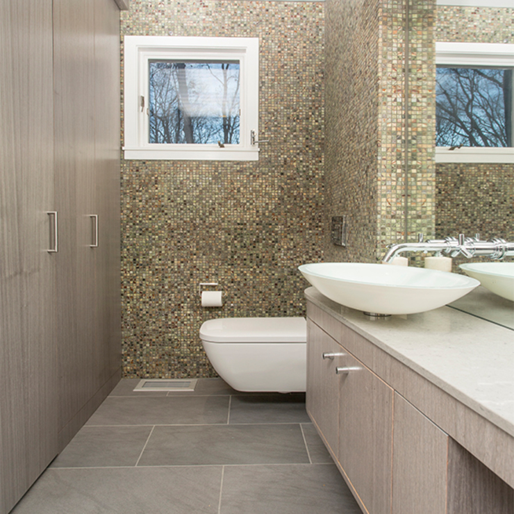 Dutchess County Residence, Amenia, NY BILLINKOFF ARCHITECTURE PLLC Modern Bathroom