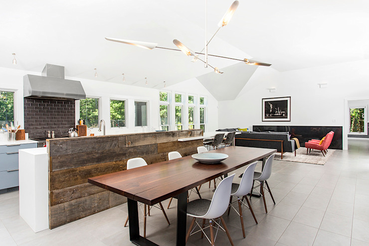 Quogue Weekend House, Quogue, NY Modern Dining Room by BILLINKOFF ARCHITECTURE PLLC Modern
