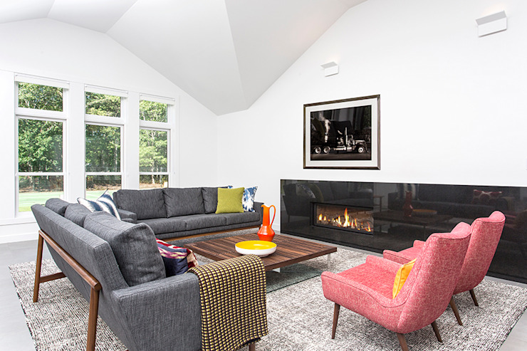 Quogue Weekend House, Quogue, NY Modern Living Room by BILLINKOFF ARCHITECTURE PLLC Modern