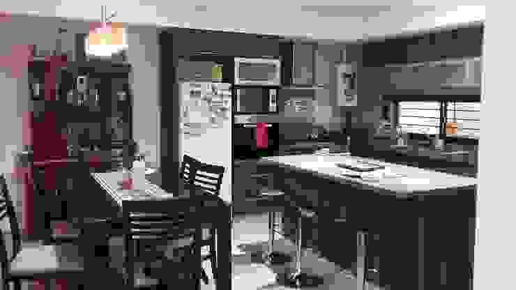 Estudio Punto y Linea 現代廚房設計點子、靈感&圖片