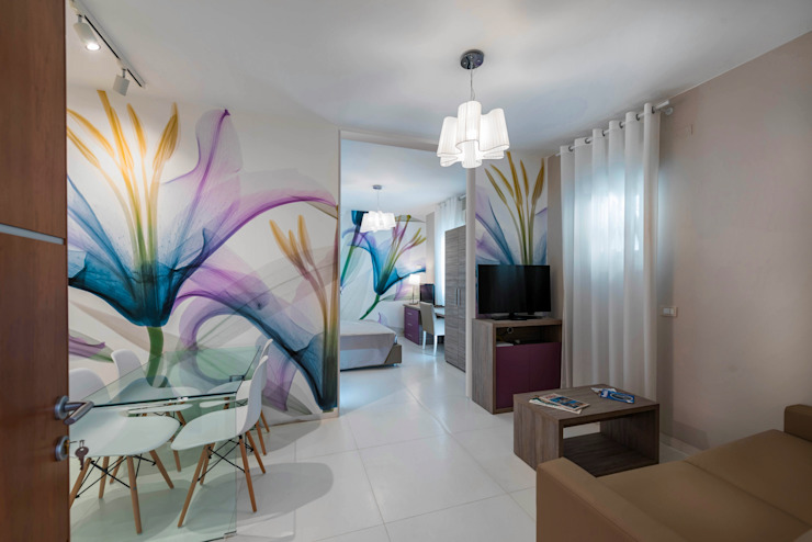 Angelo De Leo Photographer Mediterranean style dining room Wood White