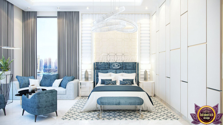 ​The most beautiful bedrooms interiors of Katrina Antonovich Modern style bedroom by Luxury Antonovich Design Modern