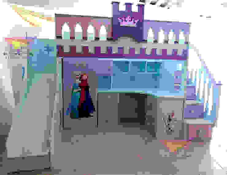 Practica Cama alta de Frozen de camas y literas infantiles kids world Clásico Derivados de madera Transparente