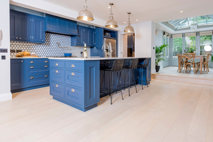 Kensington Blue Kitchen:  Kitchen by Tim Wood Limited,