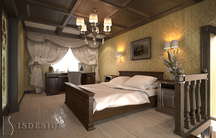 ISDesign group s.r.o. Classic style bedroom Wood Brown