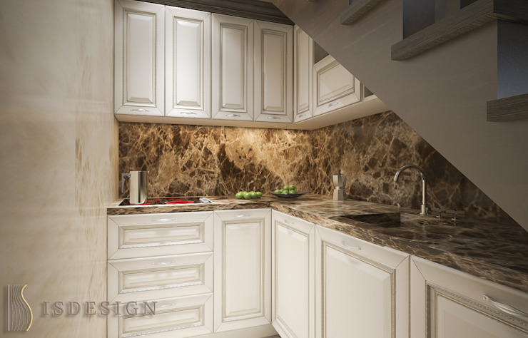 ISDesign group s.r.o. Built-in kitchens Marble Brown