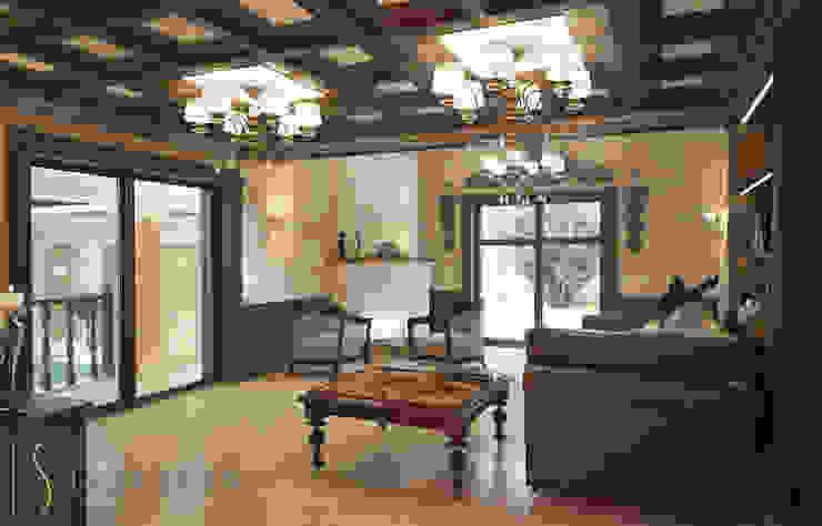 Комната отдыха Гостиная в классическом стиле от ISDesign group s.r.o. Классический Дерево Эффект древесины