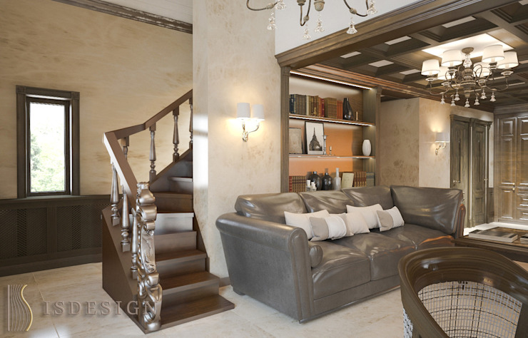 ISDesign group s.r.o. Classic style living room Wood Brown