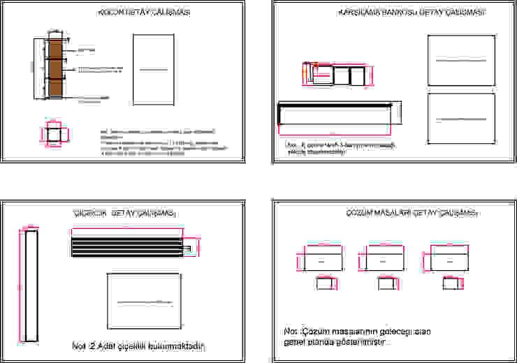 Pasillos, vestíbulos y escaleras de estilo moderno de PASART DESİGN Moderno Compuestos de madera y plástico