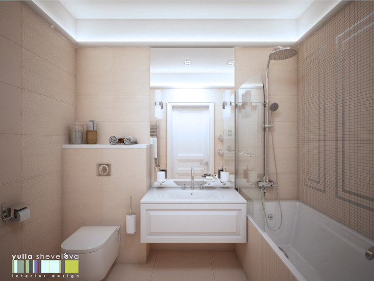 Eclectic style bathroom by Мастерская интерьера Юлии Шевелевой Eclectic