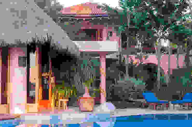 fotógrafo profesional de Arquitectura en México foto de arquitectura Piscinas de jardín Hormigón reforzado Rosa