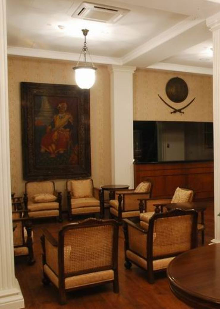 Reception/ Waiting Area Modern schools by Studio - Architect Rajesh Patel Consultants P. Ltd Modern