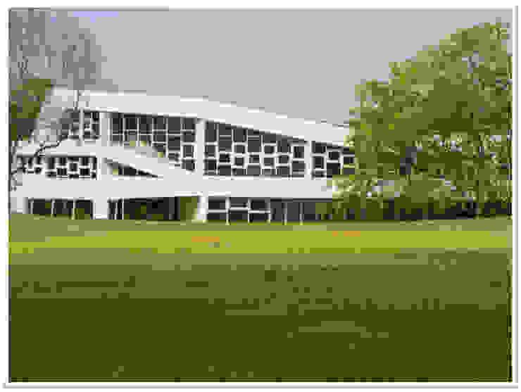 Eagleton Weekend Home Modern houses by Vivek Shankar Architects Modern Glass